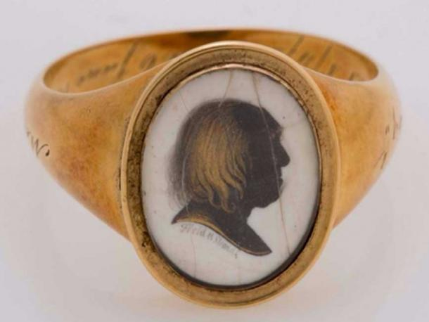 One of Bentham's 26 memorial or mourning rings. (Image: UCL)