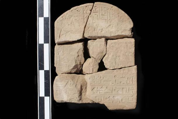 One of more than 100 inscriptions that were recently discovered by researchers at Wadi el-Hudi. (Wadi el-Hudi Expedition)