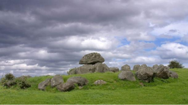 One of the Carrowmore tombs in Ireland.