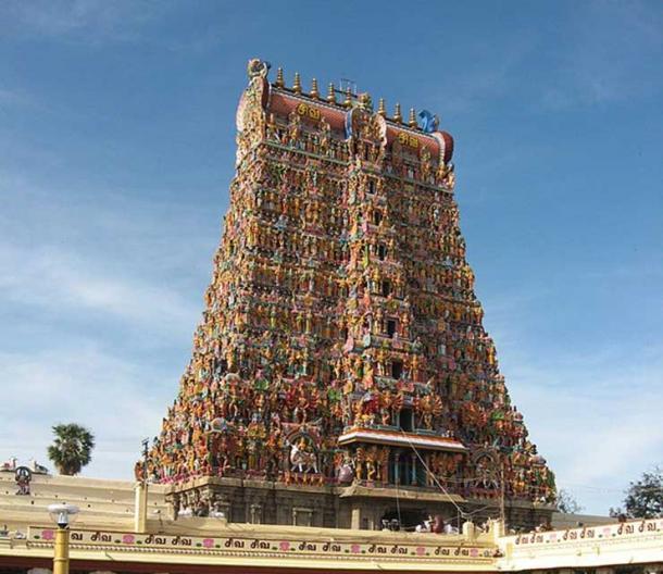 One of the Gopuram of Meenakshi Temple at Madurai