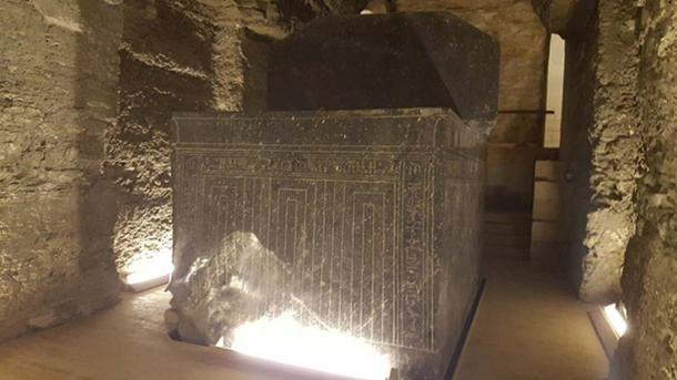 One of the Serapeum sarcophagi in Saqqara, Egypt. (Ovedc/CC BY SA 4.0)