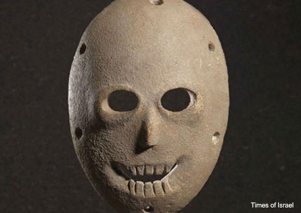 One of the masks that will go on display. (Ilan Ben Zion/Times of Israel )