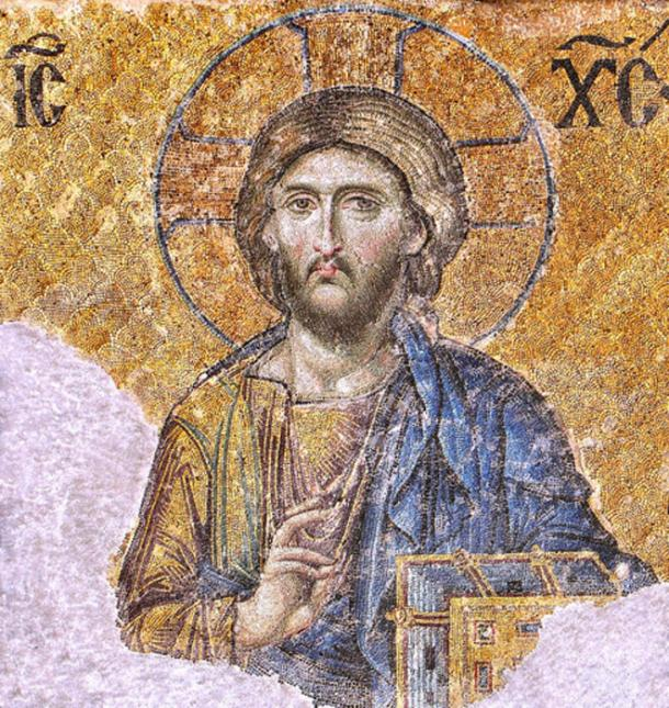 One of the most famous of the surviving Byzantine mosaics from the Byzantine Empire located in the Hagia Sophia in Constantinople – the image of Christ on the walls of the upper southern gallery. (Soerfm / CC BY-SA 3.0)
