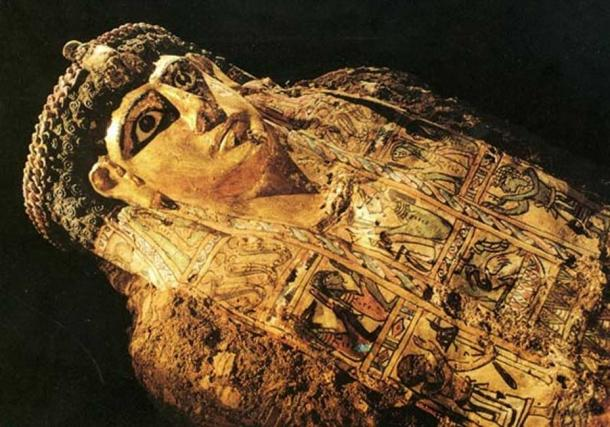One of the mummies found in the so-called Valley of the Golden Mummies. (Bensozia)
