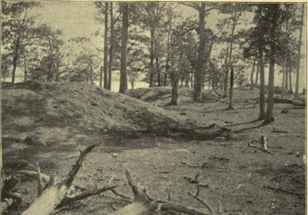 "Ontario archeologist David Boyle first studied the ""serpent mound"" in 1897 when it was thought to be the remains of a fort."