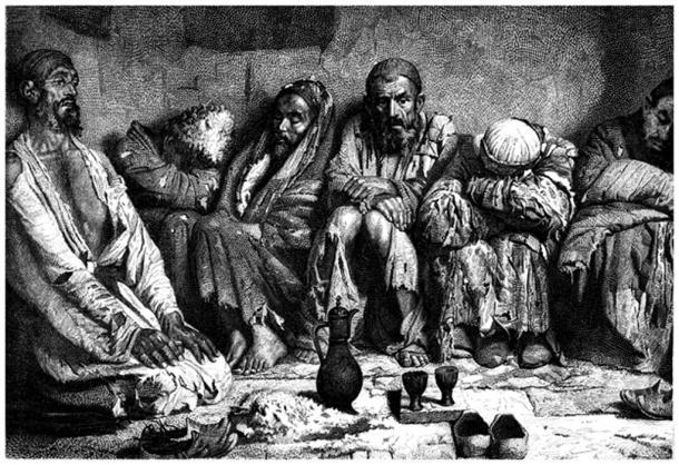 Opium Smokers - 19th century. (Erica Guilane-Nachez / Adobe)