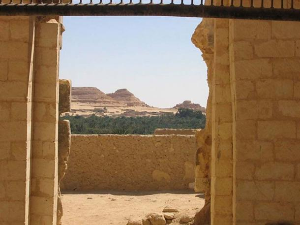 The view from where one would consult the Oracle of Amun at Siwa