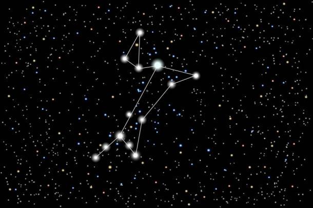 Нашите съзвездия Орион и Сириус (видени по-горе) са били известни като Изида и Анубис, нейният верен кучешки спътник, от древните египтяни.  (elladoro / Adobe Stock)