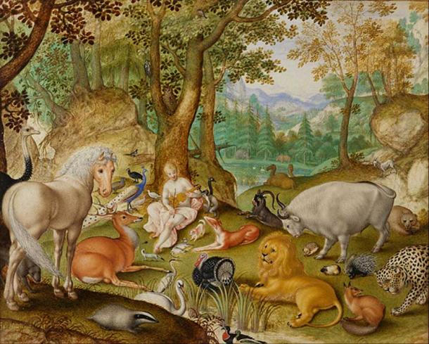 'Orpheus Charming the Animals' (1613) by Jacob Hoefnagel.