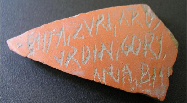 Ostracon with text in Basque on one of the Iruña-Veleia artifacts. (Zephyrus)