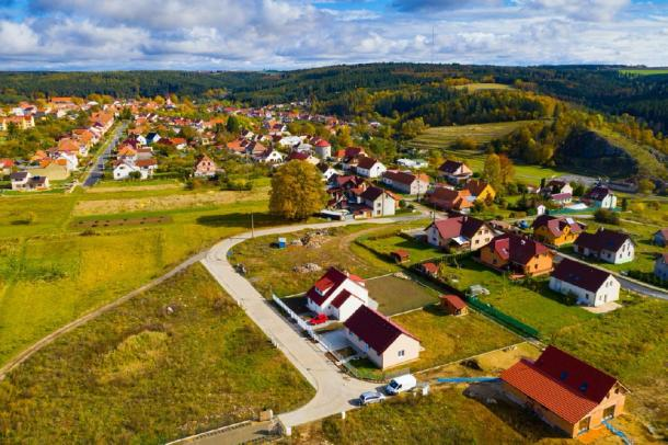 The village of Ostrov near where the wooden structure was unearthed in Czech Republic. (JackF / Adobe stock)