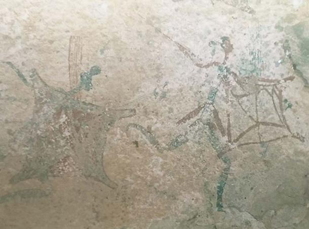 Other San rock art in southern Africa, men with shields (CC BY 4.0)