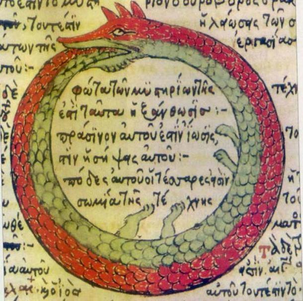 Ouroboros eats its own tail.