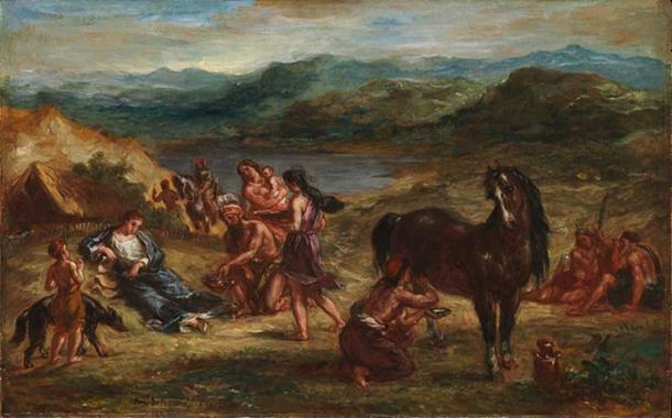 'Ovid among the Scythians' (1862) by Eugène Delacroix