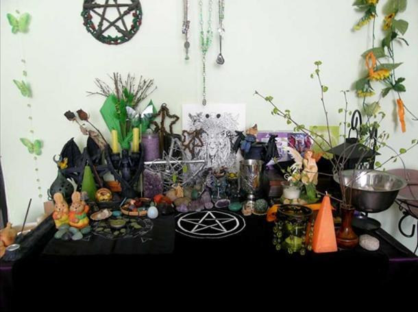 A Pagan Ostara Altar, 2010.