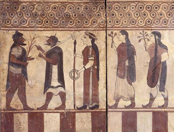 Painted Etruscan Boccanera Plaques Cerveteri, 560 BC - 55 BC.