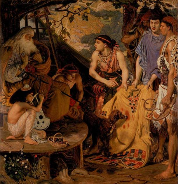 Painting depicting a scene in the Biblical myth of Joseph and the Coat of Many Colors. (Public Domain)