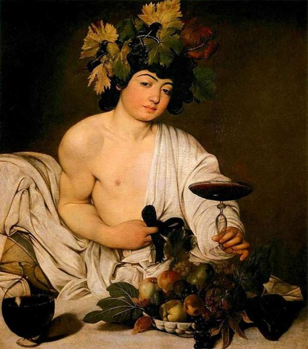 Painting of Bacchus.