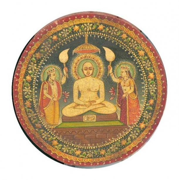 Painting of Mahavira (small painting, Rajasthan Dated 1900) from personal collection of Photos of Jules Jain. (Public Domain)