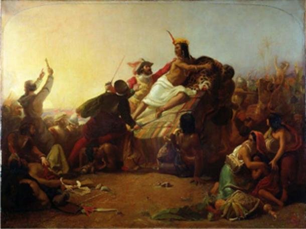 Painting of Pizarro seizing the Inca of Peru. (P. S. Burton / Public Domain)