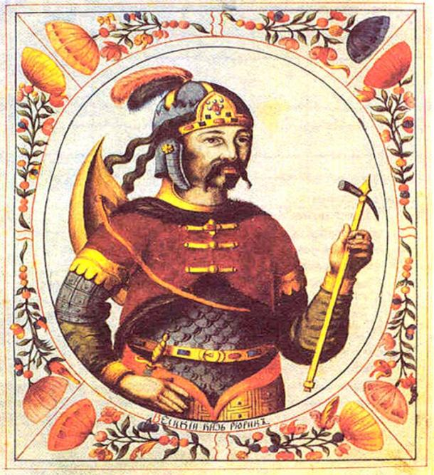 Painting of the leader Rurik dated 1672.