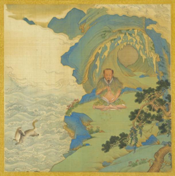 Painting of the mythological sage-ruler Fu Xi. (Cold Season / Public Domain)