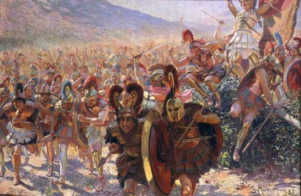 Painting of the Battle of Marathon which took place during the first Persian invasion of Greece by Georges Rochegrosse. (Public domain)