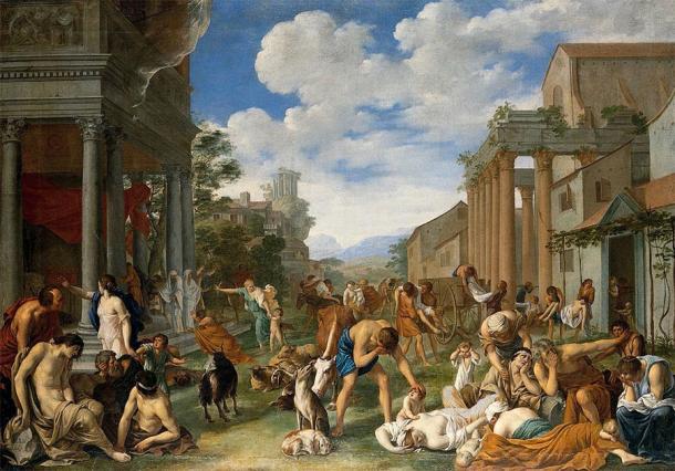 Painting representing an ancient plague. (Peter van Halen / CC BY 4.0)