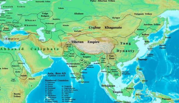 The Pala Empire in 800 AD