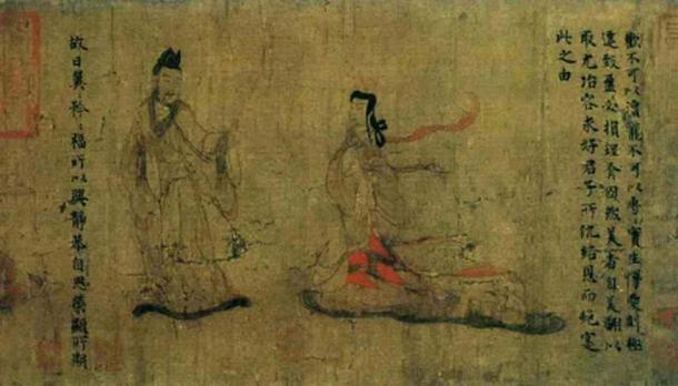 Palace Lady' detail from 'Admonitions of the Instructress to the Palace Ladies' (女史箴图), 344 - 405 AD. (Public Domain)