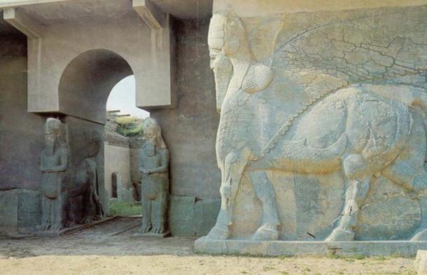 Lamassu in the Palace of Nimrud in 2007.