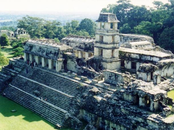 The ancient Palace of Palenque.