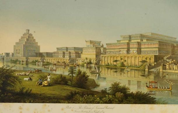 "The Palaces at Nimrud Restored"", 1853."