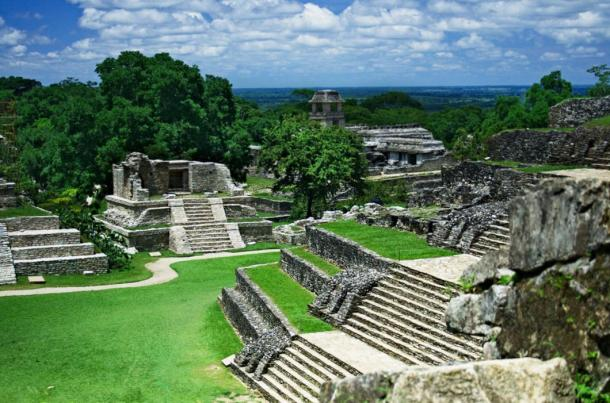 Many environmental changes were brought about by the construction of their large cities, like this city of Palenque in Chiapas, Mexico