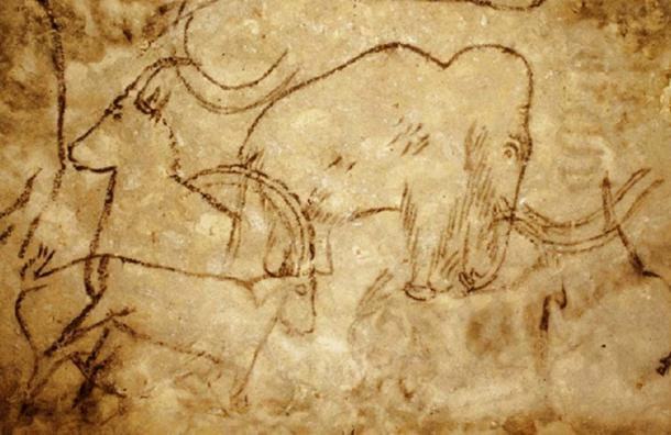 Paleolithic painting of mammoth from the Rouffignac Cave. (Sinuhe20 / Public Domain)
