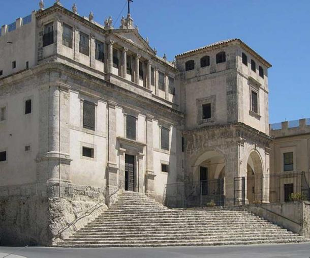 Palma di Montechiaro, Sicily - the Benedictine enclosed nunnery where the letter was said to have been written.