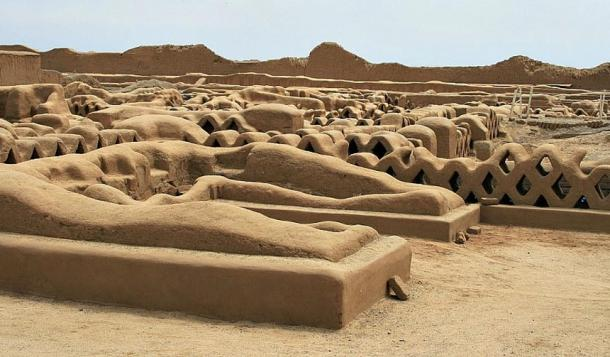 Panorama of Chan Chan, the largest mudbrick city in the world.