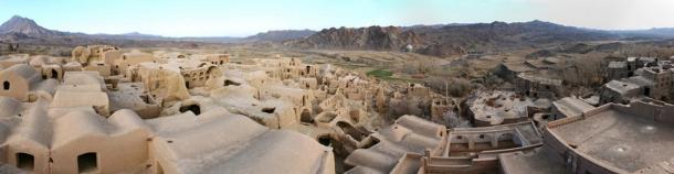 A panoramic view of Panorama of Kharanaq Old Town, Iran.