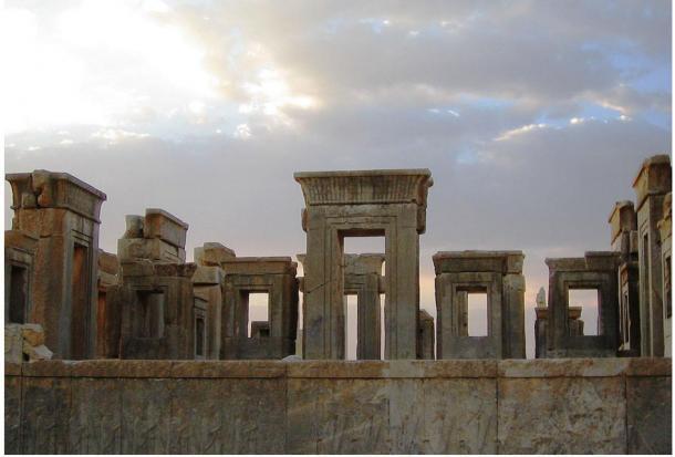 Panorama of Persepolis ruins