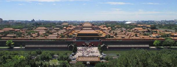 Panorama view of the Forbidden City, Beijing, built by Yongle Emperor, 1420 AD