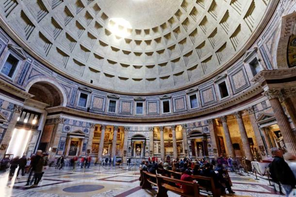 Panoramic interior of the Pantheon, Rome