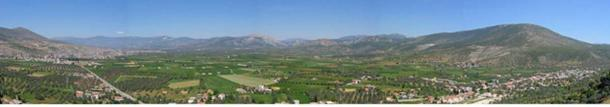Panoramic view of the Milas Plain, Turkey. Click for large image.