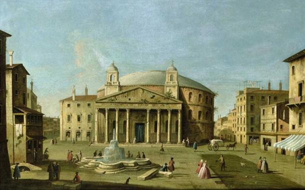 View of the Pantheon in Rome, Attributed to Master of the Langmatt Foundation Views circa 1760