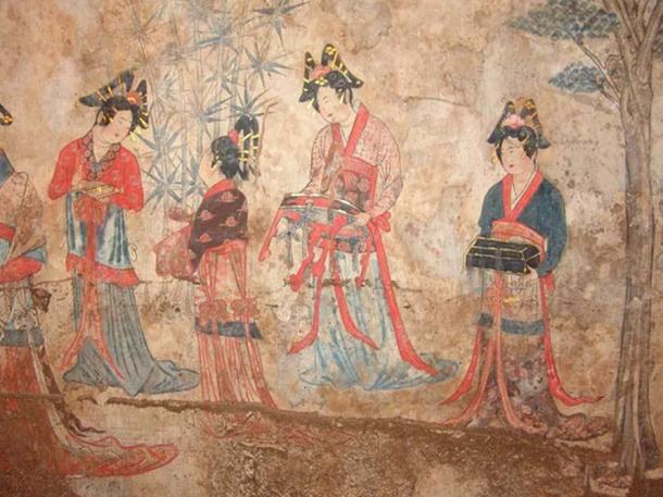 Pao-shan Tomb Wall-Painting of Liao Dynasty: A Love Poem.