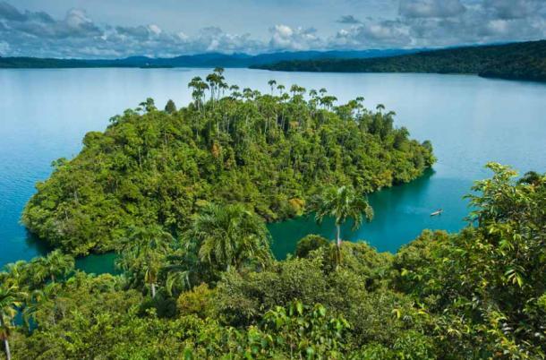 Papua New Guinea, Southern Highlands Province, Lake Kutubu, Kutubu island. (Marc Dozier)