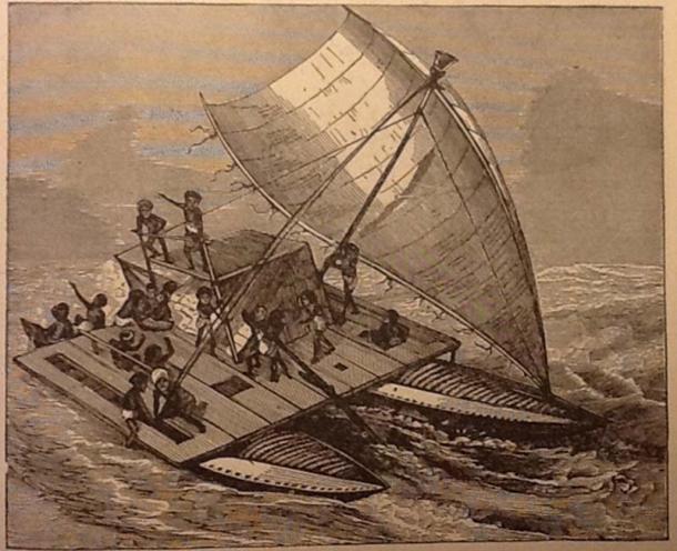 A Papuan Sail Boat.