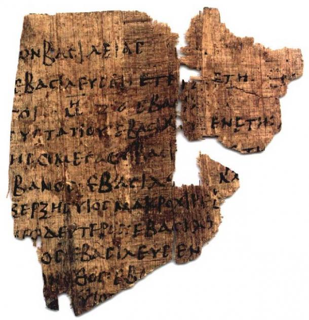 Papyrus Baden 4:59, Verso (fifth century AD..): Suspected partial copy of the Epitome, based on the Aegyptiaca Manetho.