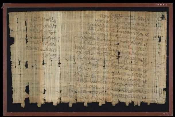 The back of an ancient Egyptian letter known as 'Papyrus Salt 124.'