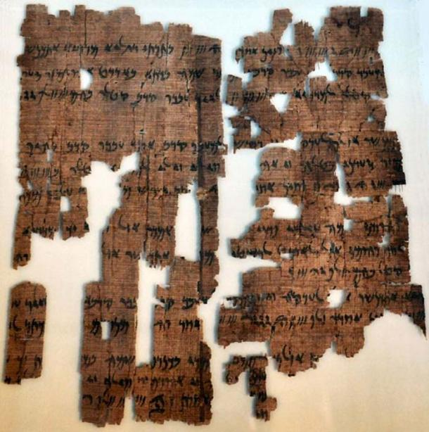 Papyrus with an Aramaic translation of the Behistun inscription's text