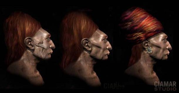 An artist's impression based on a Paracas skull.